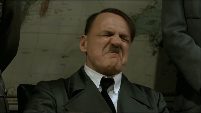 Hitler Reacts Negatively To The Royal Rumble